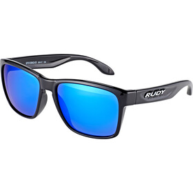 Rudy Project Spinhawk Okulary rowerowe, black gloss - rp optics multilaser blue